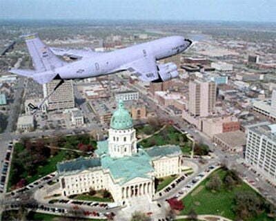 190th ARW flyover Topeka capital