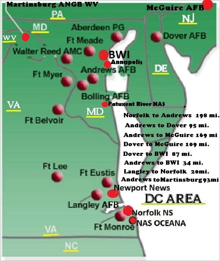 Baltimore-Washington (BWI) IAP MD 21226   UJ Space A Info