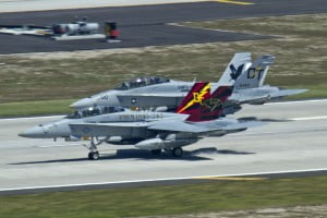 F-18Ds VMFA(AW)-242 taking off from MCAS Iwakuni 2010