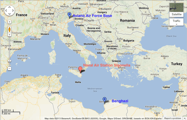 us air force bases in italy map Us Air Force Bases In Italy Map