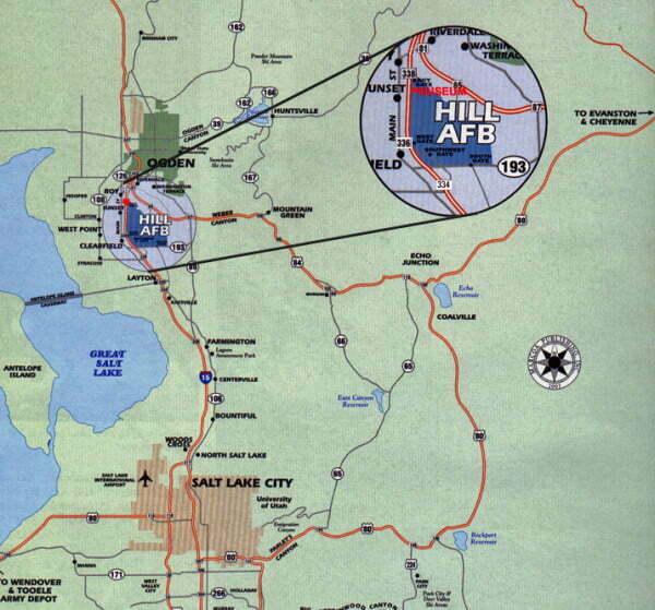Yahoo Driving Directions Google >> Hill AFB Utah 84056