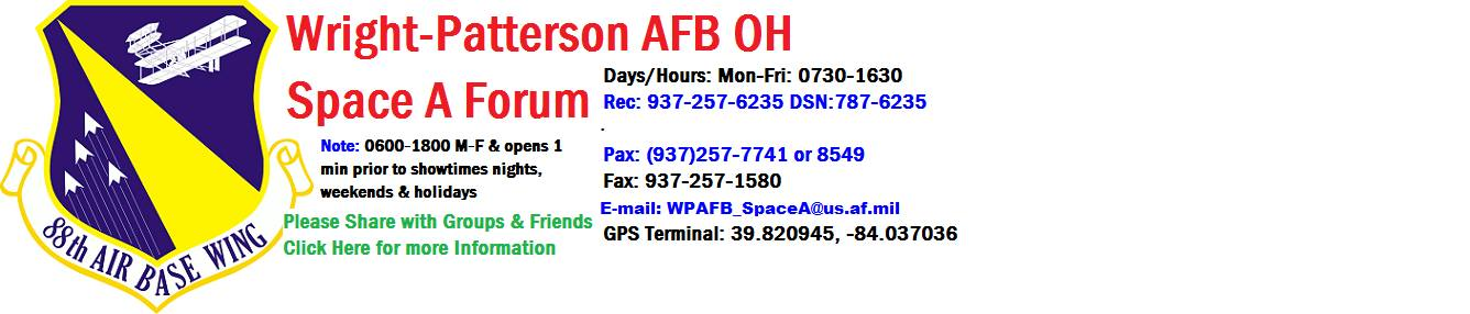 Wright Patterson Afb Oh 45433 Uj Space A Info