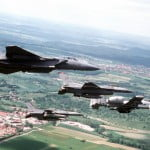 52nd Fighter Wing USAF planes in flight 1997