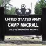 Camp Mackall entrance