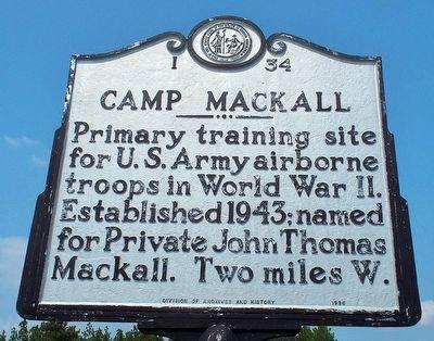 Camp Mackall established