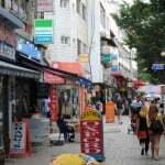 Shopping area outside Osan