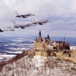 Spangdahlem jets over castle
