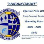 Travis Passenger Terminal Hours
