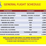 Yokota general flight schedule